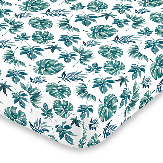 Nojo Super Soft Floral Crib Sheet