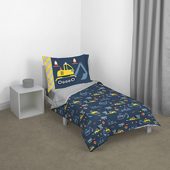 Nojo Construction Time 4-pc. Automotive Toddler Bedding Set