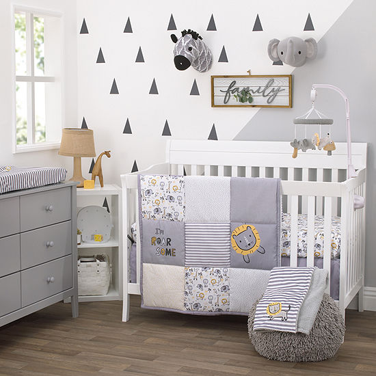 Nojo Littlle love Roarsome Lion 3-pc. Animals + Insects Crib Bedding Set