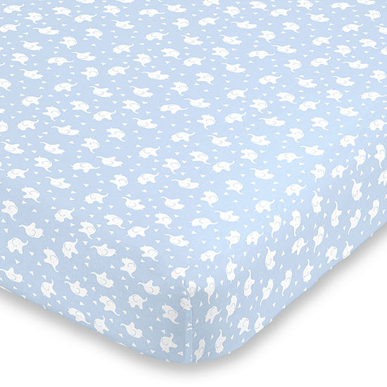 Nojo Super Soft Elephant Animals + Insects Crib Sheet