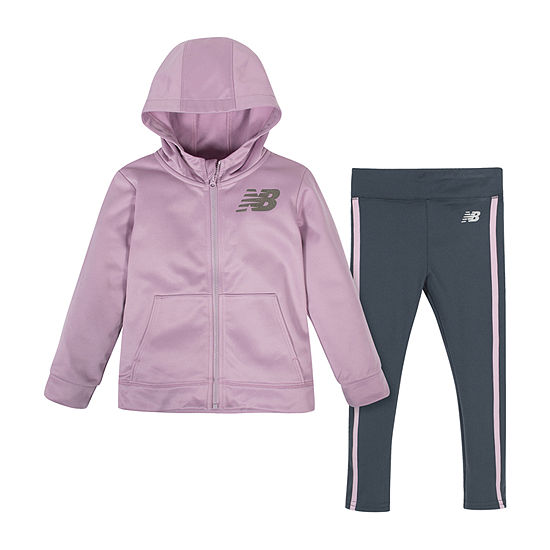 New Balance Girls 2-pc. Logo Pant Set Preschool
