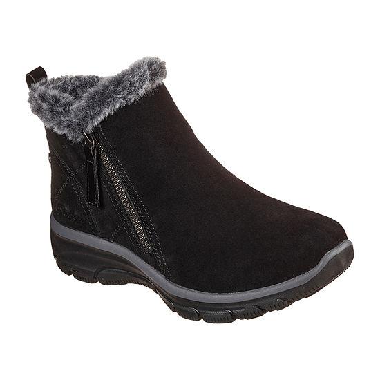 Skechers Womens Easy Going - High Zip Flat Heel Winter Boots