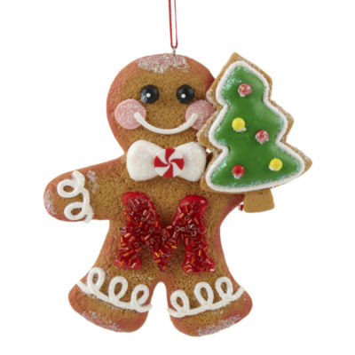 North Pole Trading Co. Gingerbread Monogram Christmas Ornament