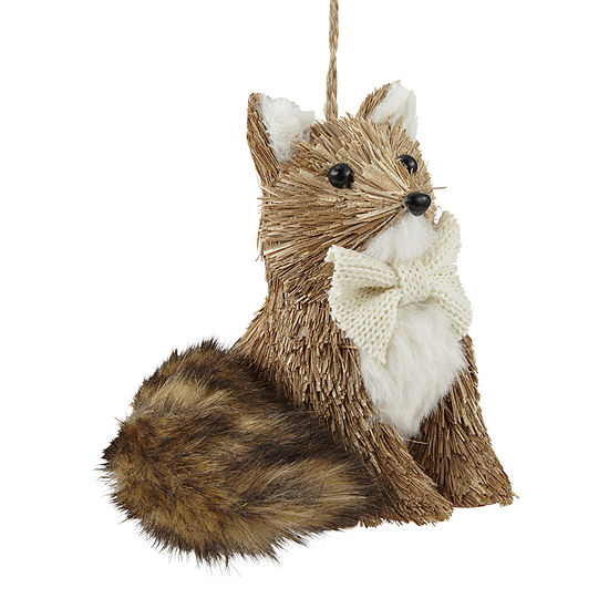 """North Pole Trading Co. Enchanted Woods 4.75"""" Fox Christmas Ornament"""