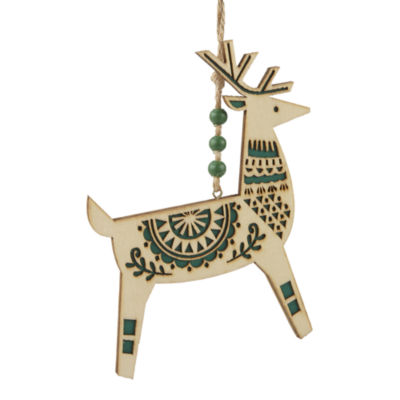 "North Pole Trading Co. Enchanted Woods 6"" Deer Christmas Ornament"
