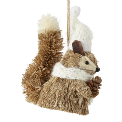 "North Pole Trading Co. Enchanted Woods 5"" Squirrel Christmas Ornament"