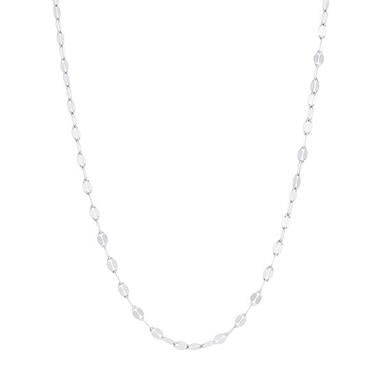 """Made in Italy Silver Treasures Sterling Silver 16-30"""" Chain Necklace"""