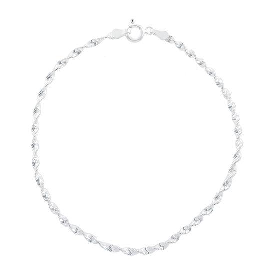 Silver Treasures 8 Inch Chain Bracelet