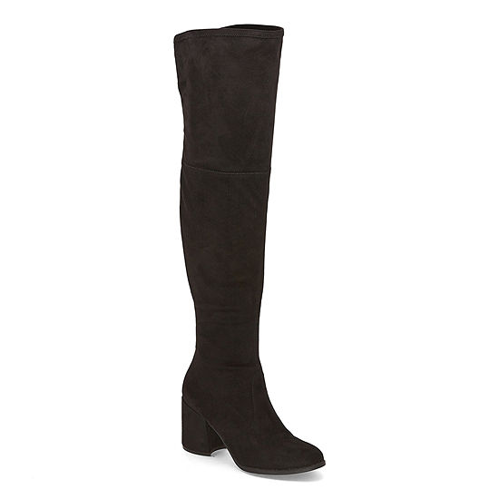 Liz Claiborne Womens Delancey Over the Knee Block Heel Boots