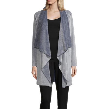 Rene Rofe Frosted Wrap Womens Fleece Robe Long Sleeve Long Length, Small , Blue