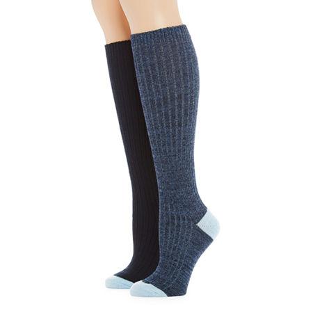 Mixit 2 Pair Boot Socks Womens, 4-10 , Blue