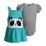 Youngland Baby Girls Sleeveless 2-pc. Dress Set