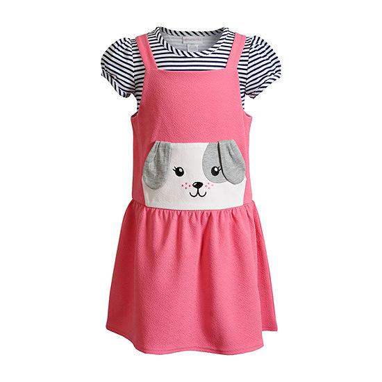 Sweetheart Rose Baby Girls Sleeveless 2-pc. Dress Set