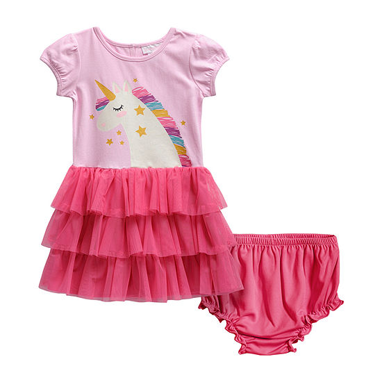 Sweetheart Rose Baby Girls Short Sleeve Tutu Dress