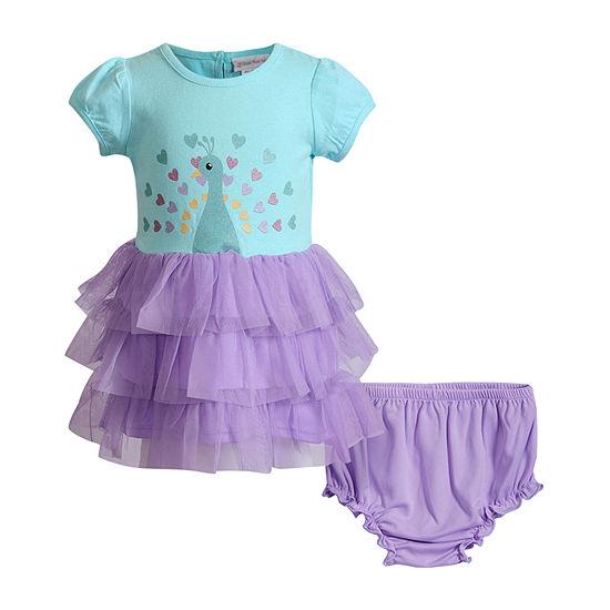 Sweetheart Rose Baby Girls Short Sleeve Tutu Dress
