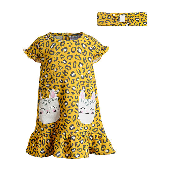 Sweetheart Rose Baby Girls Short Sleeve Empire Waist Dress