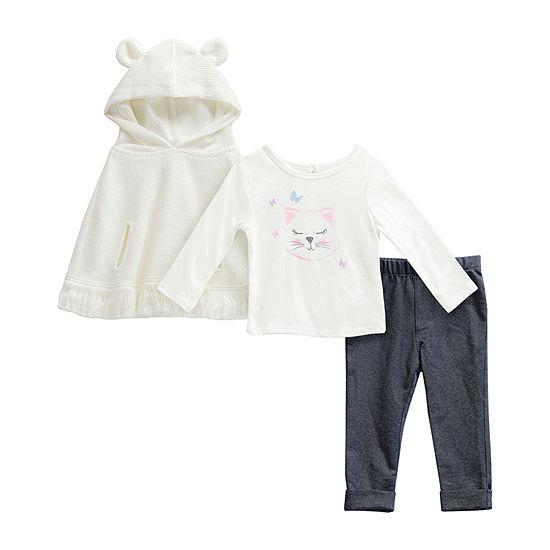 Sweetheart Rose Baby Girls 3-pc. Pant Set