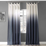 Exclusive Fabrics & Furnishing Ombre Faux Linen Light-Filtering Rod-Pocket Single Curtain Panel
