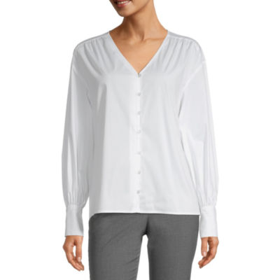 Worthington Womens Long Sleeve Regular Fit Button-Down Shirt