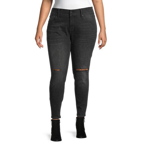 a.n.a-Plus Womens Comfort Waist Skinny Jean