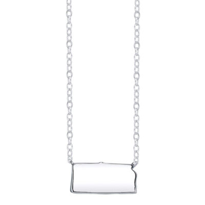 Footnotes® Sterling Silver Kansas State Necklace
