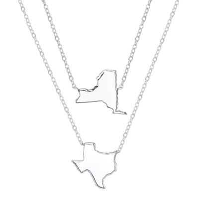 Footnotes® Sterling Silver South Dakota State Necklace