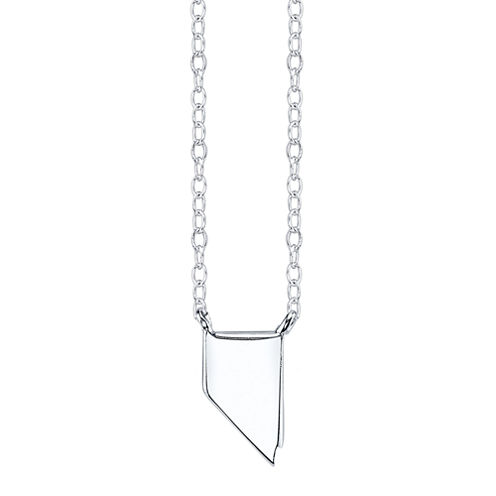 Footnotes® Sterling Silver Nevada State Necklace