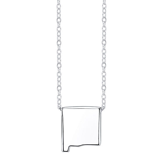 Footnotes® Sterling Silver New Mexico State Necklace