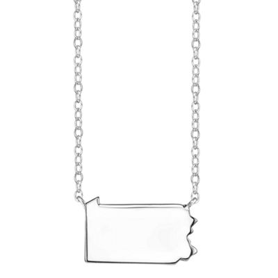 Footnotes® Sterling Silver Pennsylvania State Necklace