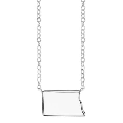 Footnotes® Sterling Silver North Dakota State Necklace