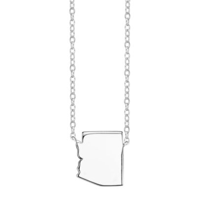 Footnotes® Sterling Silver Arizona State Necklace