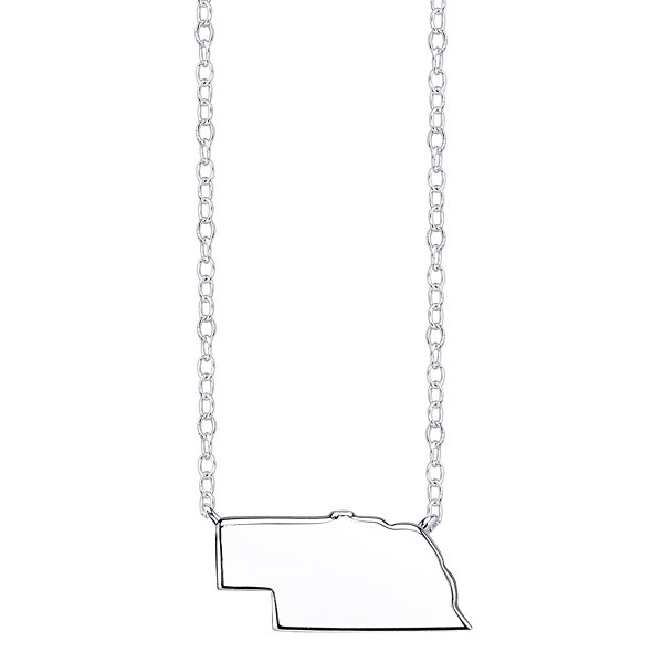 Footnotes® Sterling Silver Nebraska State Necklace