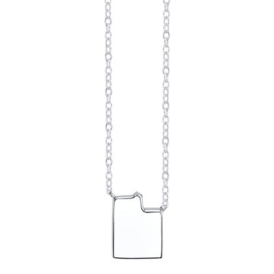 Footnotes® Sterling Silver Utah State Necklace