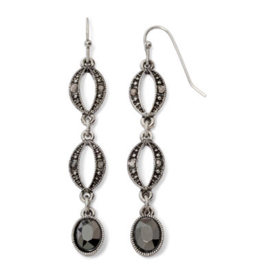 Liz Claiborne® Marcasite-Look Long Earrings