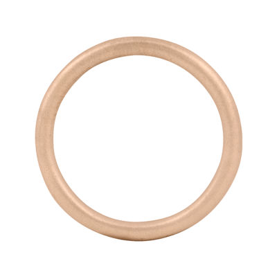Personally Stackable 18K Rose Gold Over Sterling Silver Satin 1.5mm Ring