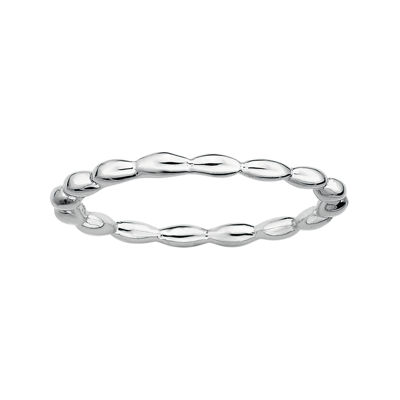 Fine Jewelry Personally Stackable Sterling Silver Stackable 1.5mm Rice Bead Ring yfshlDGl