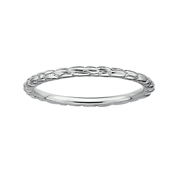 Fine Jewelry Personally Stackable Sterling Silver Stackable 1.5mm Rice Bead Ring hjSrOYSP8O