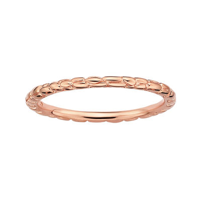 Personally Stackable 18K Rose Gold Over Sterling Silver 1.5mm Twisted Ring