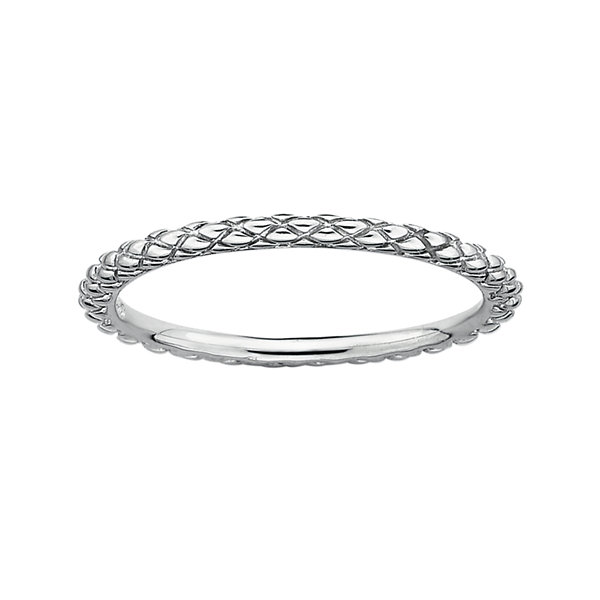 Personally Stackable Sterling Silver Stackable 1.5mm Criss-Cross Ring
