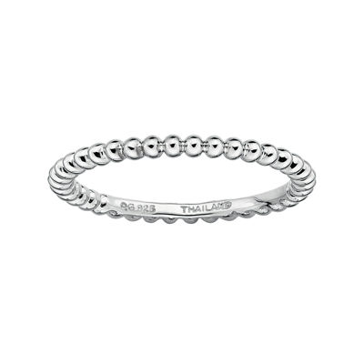 Personally Stackable Sterling Silver Stackable 1.5mm Beaded Ring