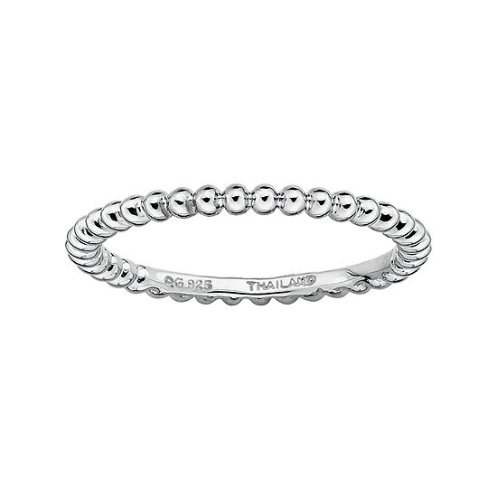 Personally Stackable Sterling Silver Stackable 15mm Beaded Ring