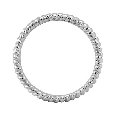 Personally Stackable Sterling Silver 3.5mm Twisted Ring