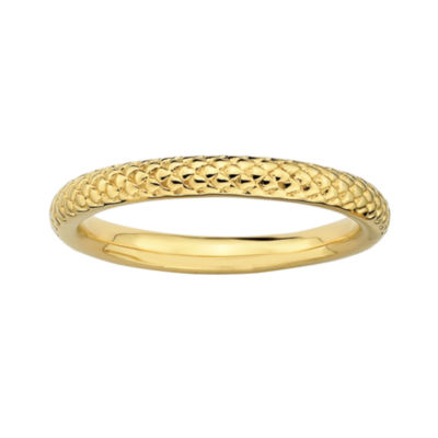Personally Stackable 18K Yellow Gold Over Sterling Silver 3.5mm Cable Ring