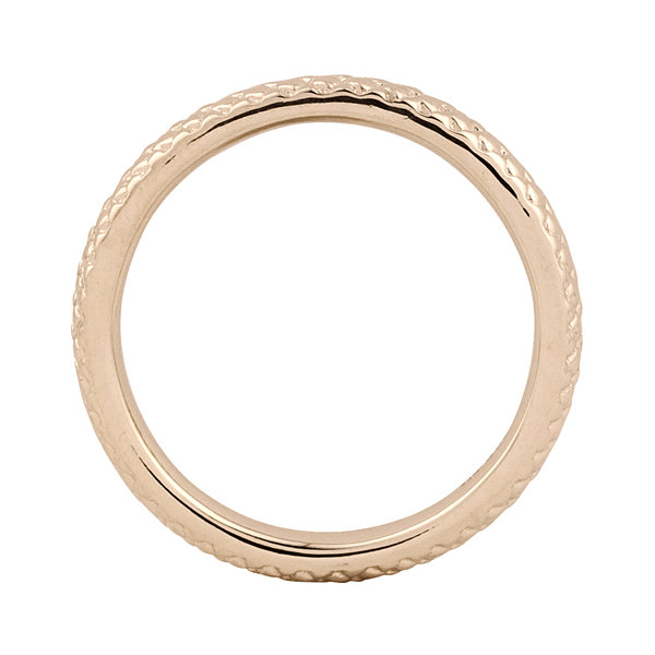 Personally Stackable 18K Rose Gold Over Sterling Silver 3.5mm Cable Ring