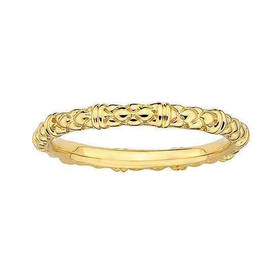 Personally Stackable 18K Yellow Gold Over Sterling Silver Stackable 1.5mm Cable