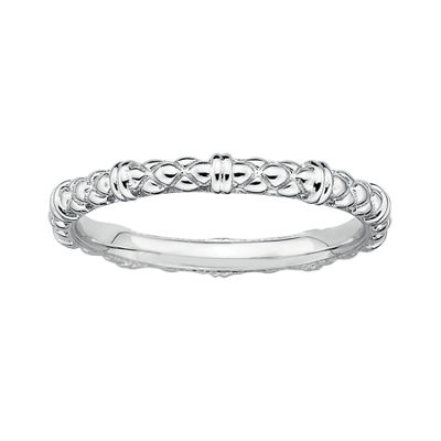 Personally Stackable Sterling Silver Stackable 1.5mm Cable Ring