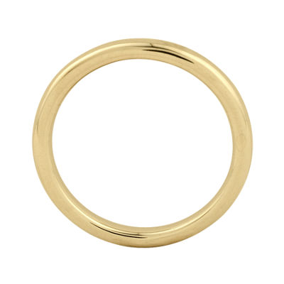 Personally Stackable 18K Yellow Gold Over Sterling Silver 3.5mm Polished Ring