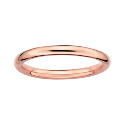 Personally Stackable 18K Rose Gold Over Sterling Silver 3.5mm Polished Ring