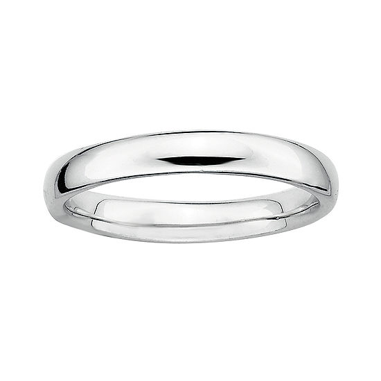 Personally Stackable Sterling Silver Stackable 3.5mm Rounded Ring