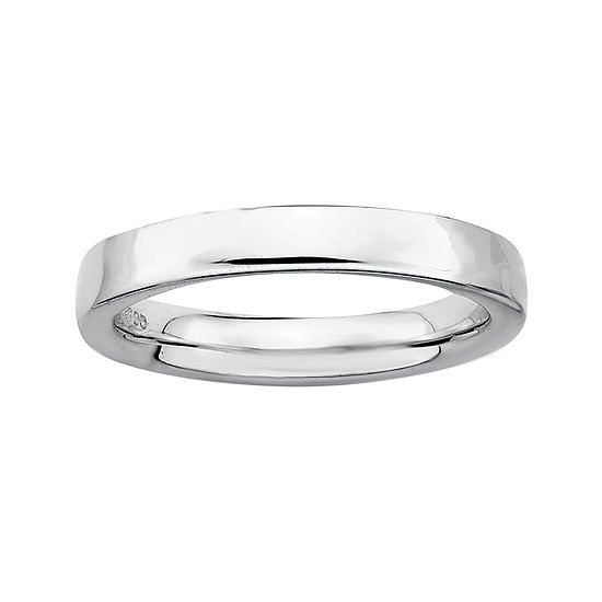 Personally Stackable Sterling Silver Stackable 1.5mm Square-Edge Ring